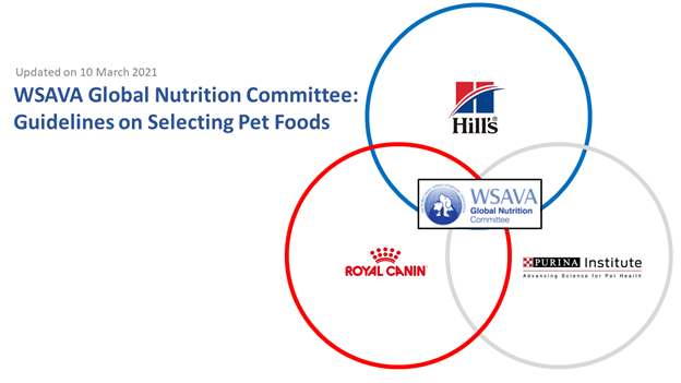 wsava, part 2: animal feed recommendations are now guidelines