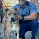 police rescue dog chained to the beach & left to